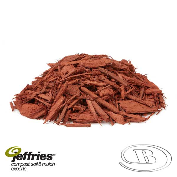 Forever Red Mulch at Budget Landscape & Building Supplies