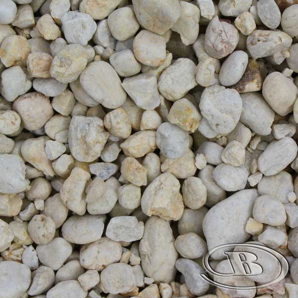 20mm Cream Pebble at Budget Landscape & Building Supplies
