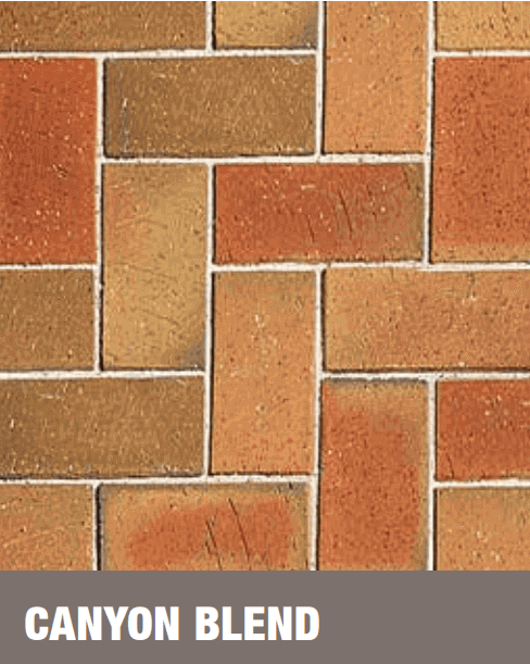 Canyon Blend Clay Pavers at Budget Landscape & Building Supplies
