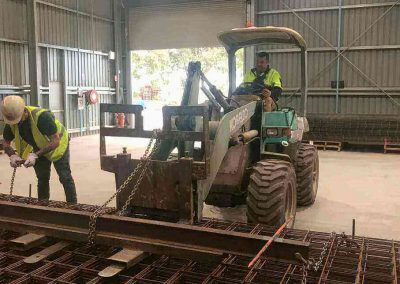 Forklift adapted for loading Steel reinforcing mesh