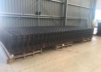 Steel reinforcing mesh order assembled ready for loading