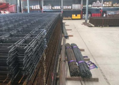 Steel reinforcing mesh stacks