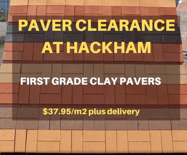Clay paver sale at Hackham