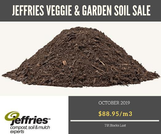 jeffries veggie & garden soil sale