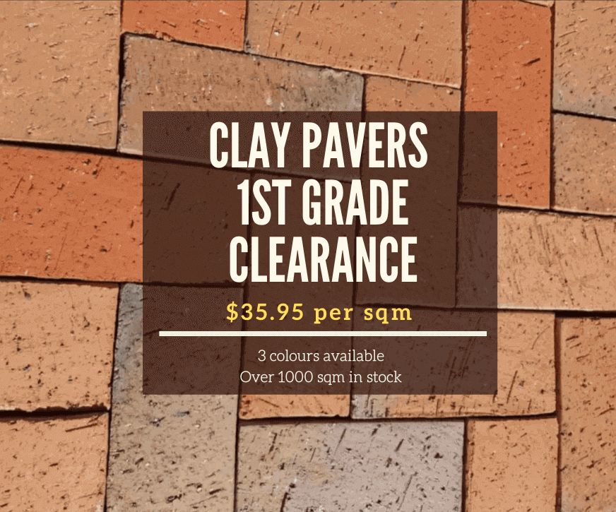 clay pavers 1st grade clearance