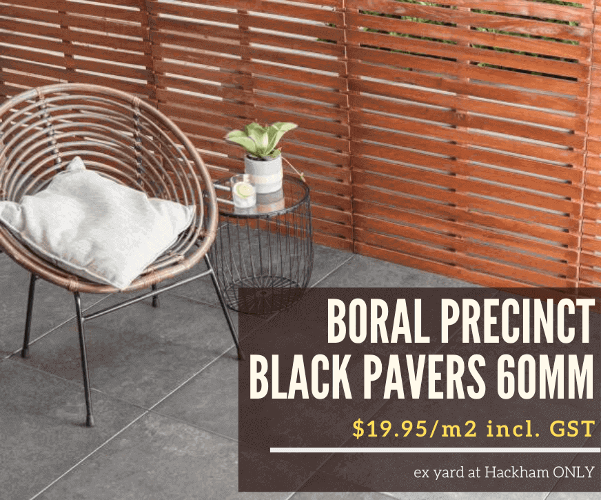 Boral Precinct Black Pavers on Sale