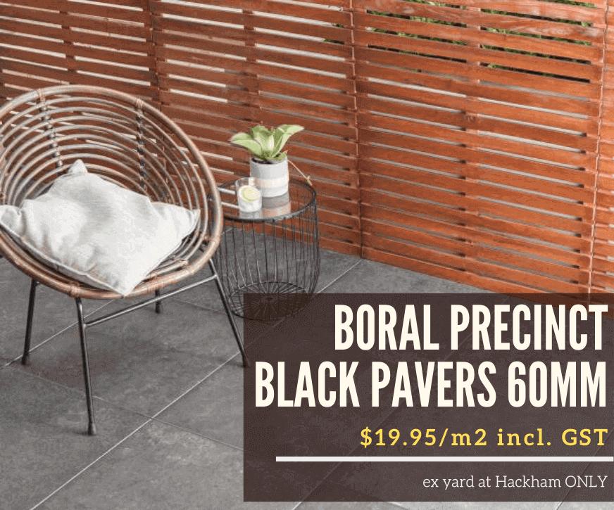 Boral Precinct Black Pavers on Sale