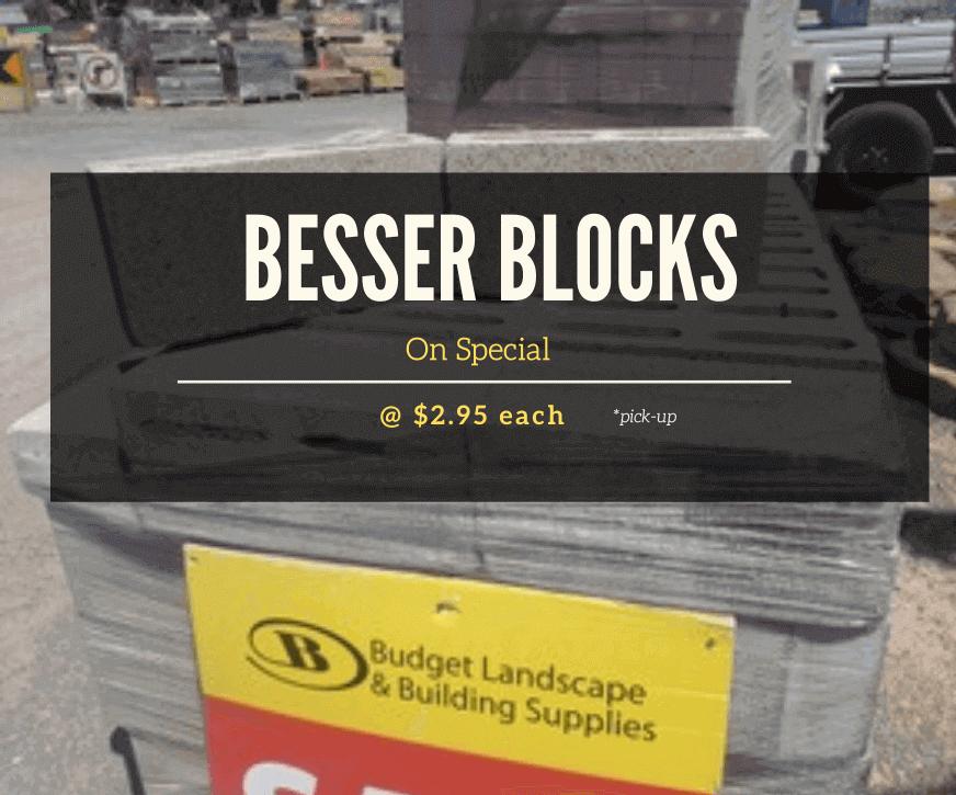 Besser Blocks on Special - July 2020