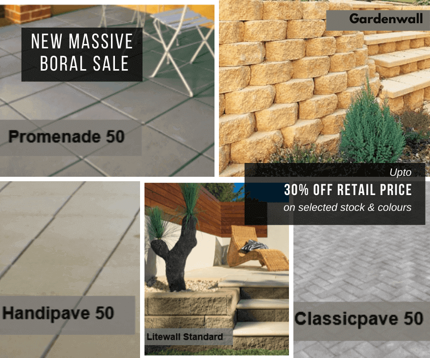 New Massive Boral Sale - upto 30% off retail prices