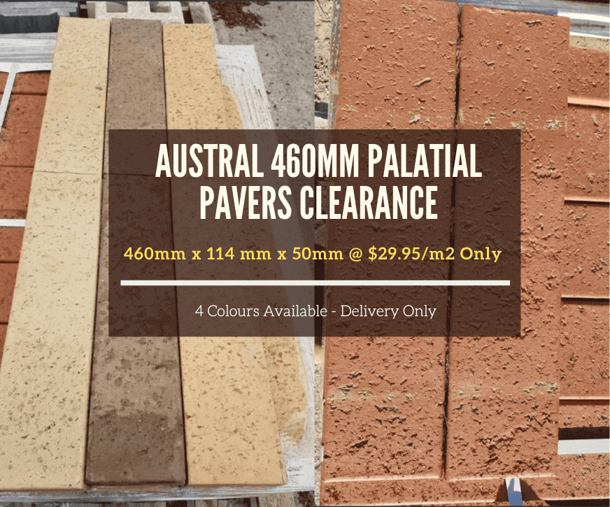 Austral 460mm Palatial Pavers Clearance