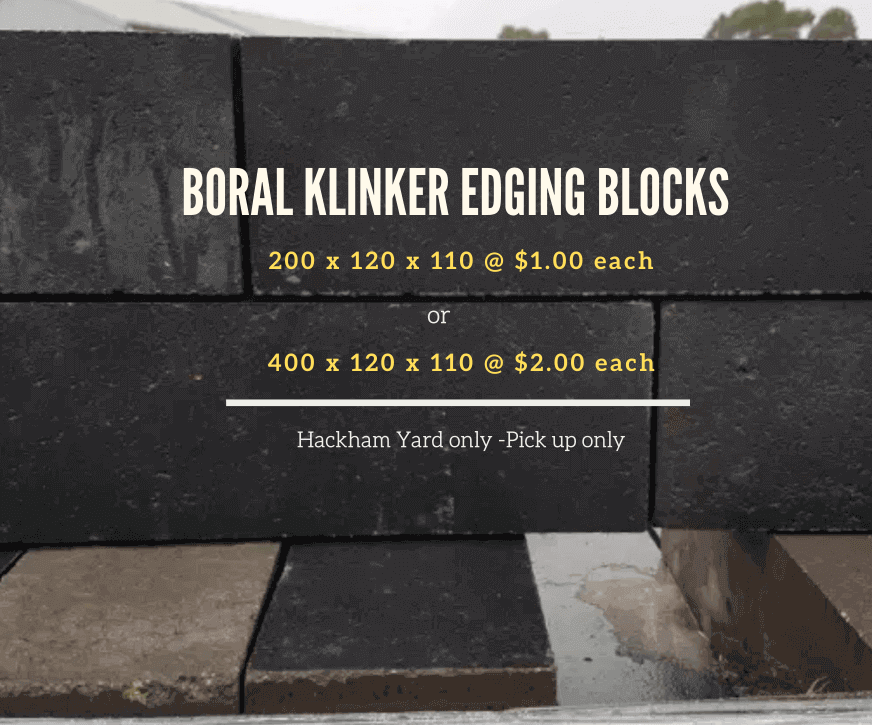 BORAL KLINKER EDGING BLOCKS (BLACK) ON SALE