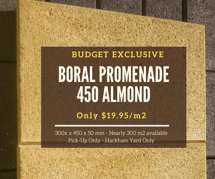 Boral Promenade 450 Almond Pavers