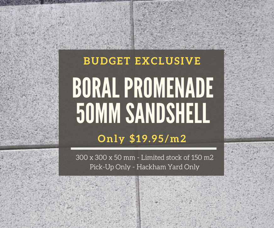 Weekly Specials - Boral Promenade 50mm Sandshell Pavers