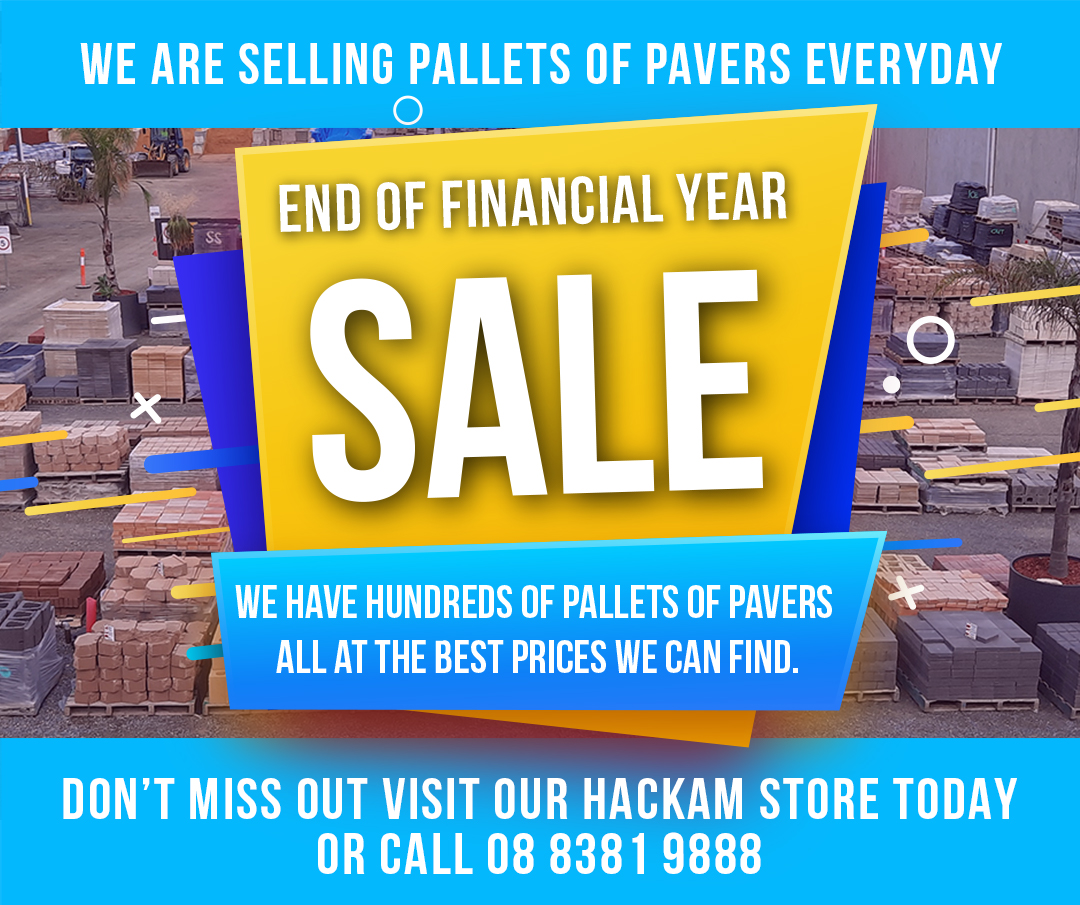 end of financial year paver sale