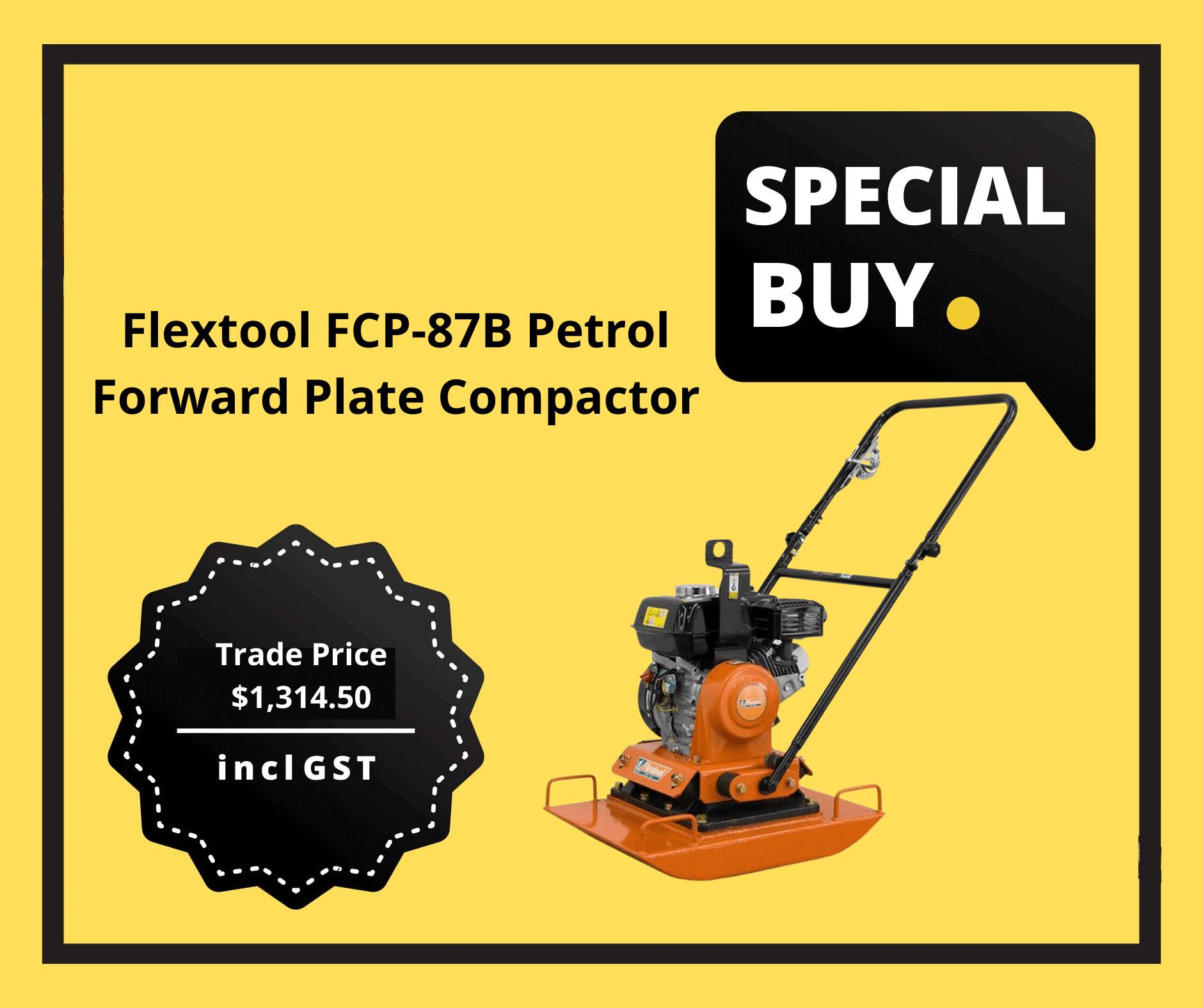 Flextool FCP-87B Petrol Forward Plate Compactor