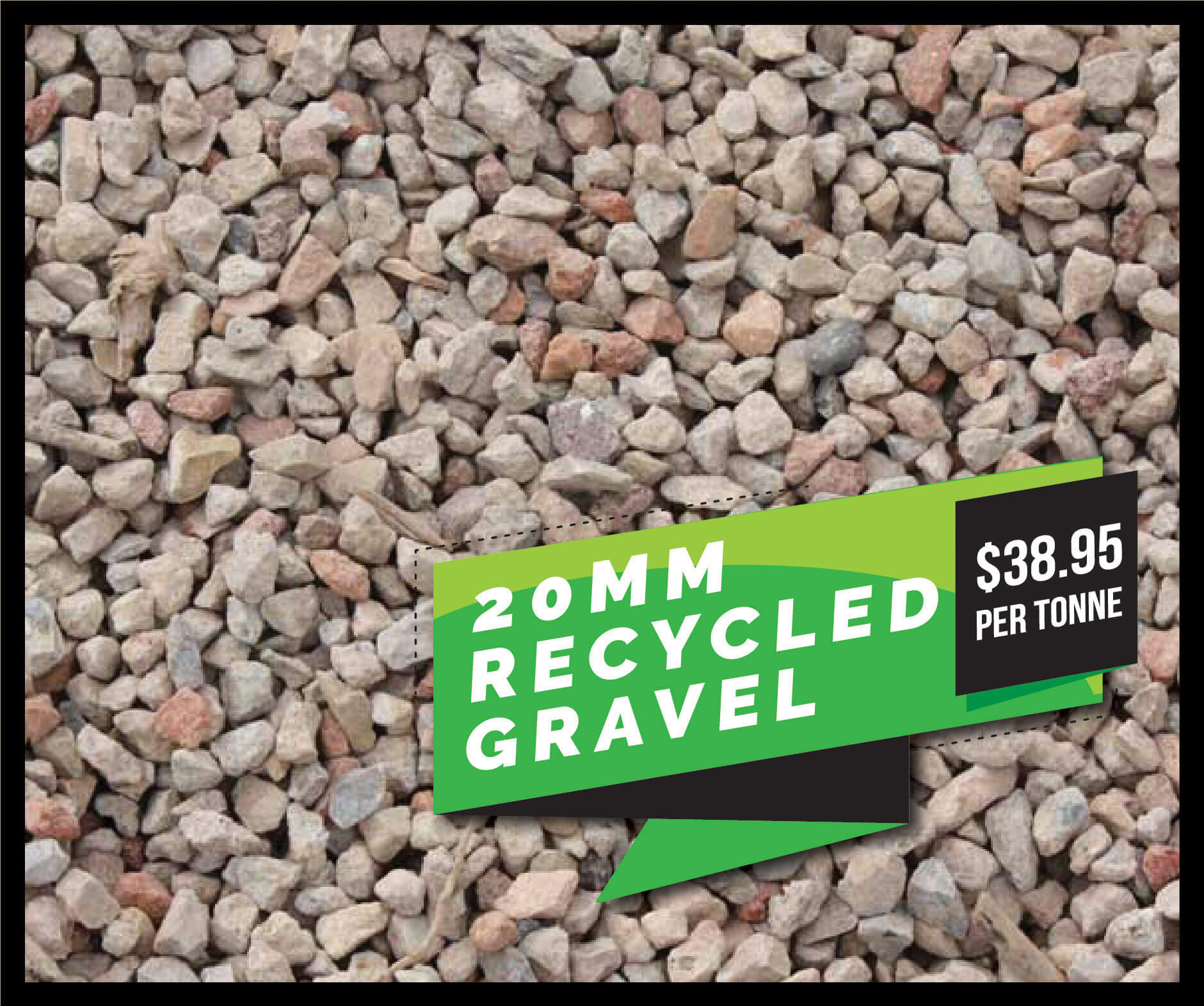 20mm recycled gravel on sale